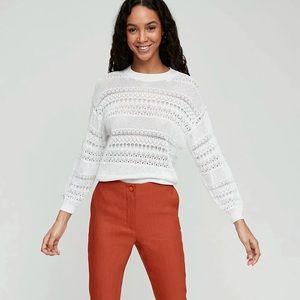 Aritzia Wilfred Livvie Pointelle Knit Sweater